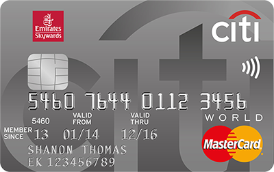 Emirates Citibank World Credit Card