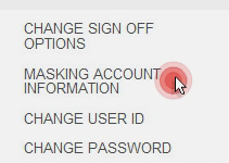 Masking your account information