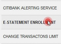 Arrange to receive e-Statements