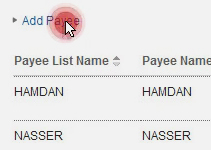 Adding a new payee