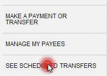 Setting up a scheduled transaction